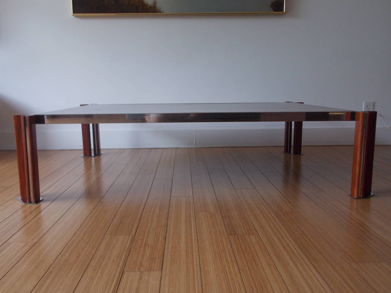 Chic italian design coffee table attributed to saporitti - Coffee table italian design ...