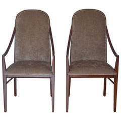 Pair of Milo Baughman Accent or Dinette Chairs