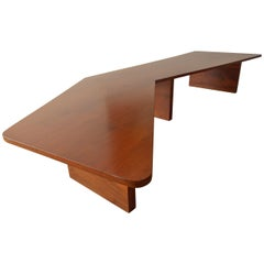 Long Architectural Cocktail or Coffee Table
