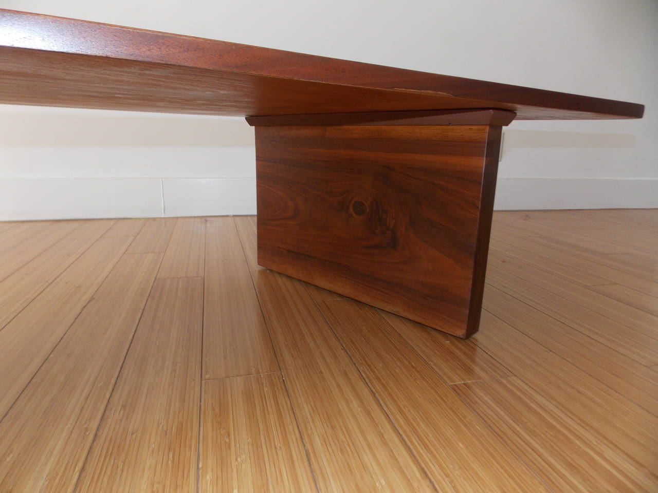 American  Long Architectural Cocktail Table  For Sale
