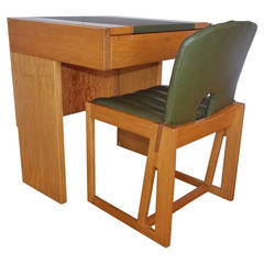Modernist Desk Table with Chair Attributed to Afra and Tobia Scarpa