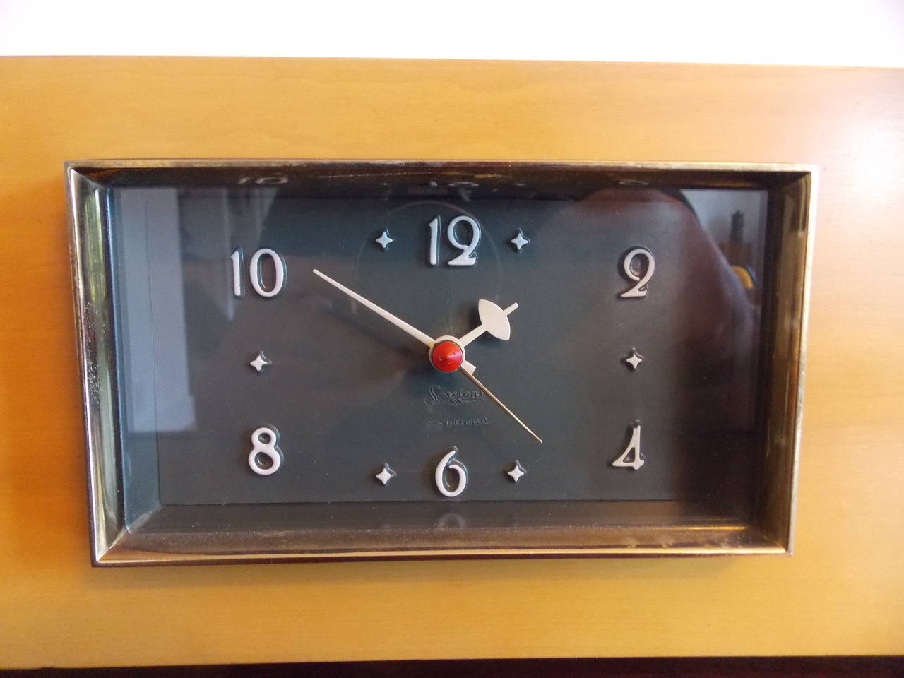 elegant mid century modern sessions chime clock at 1stdibs