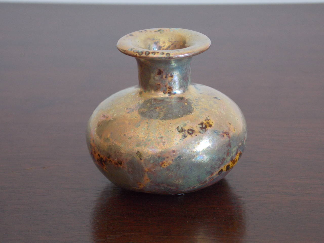 20th Century Beatrice Wood Studio Pottery Weed Vase with Iridescent Glaze  For Sale