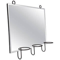 Midcentury Iron Mirror Attributed to Jean Royère