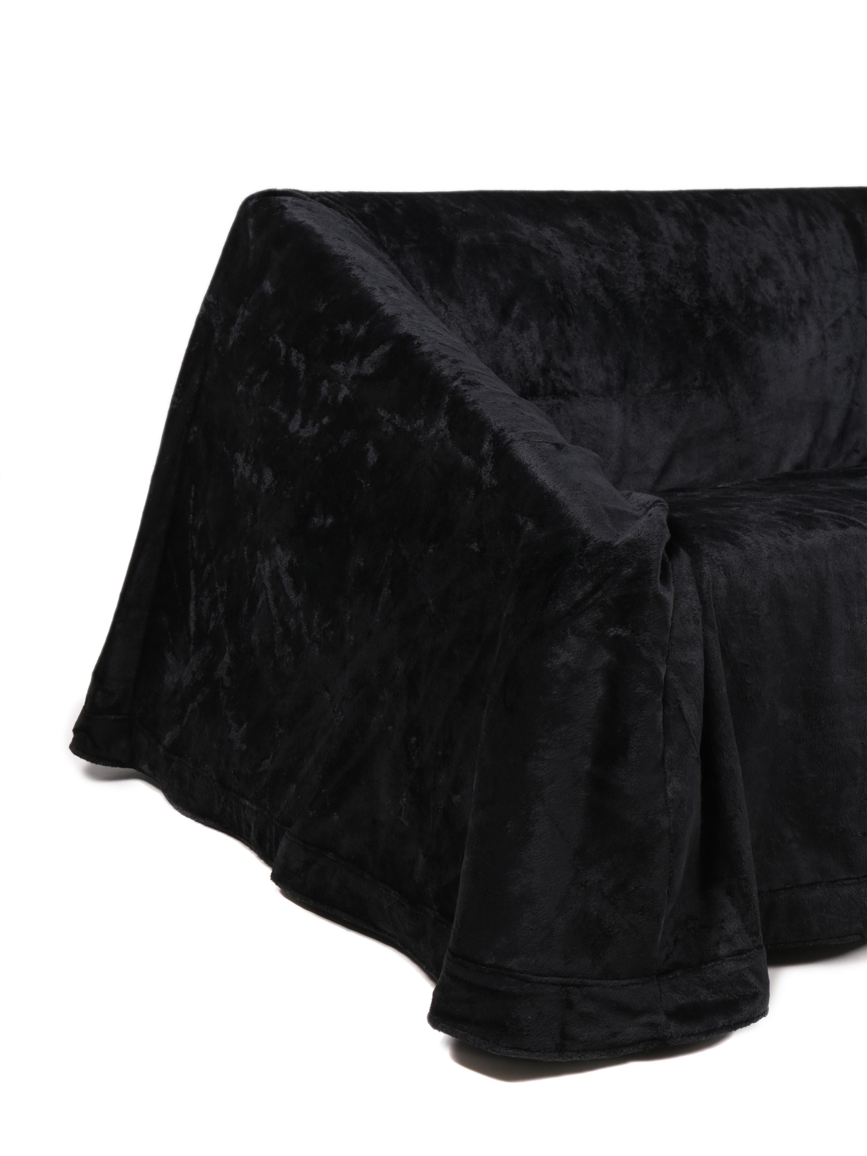 Modern ParadisoTerrestre Mantilla Sofa 160 In Black Velvet By Kazuhide  Takahama For Sale