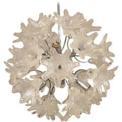 Chrystal Glass Floral Sputnik Pendant