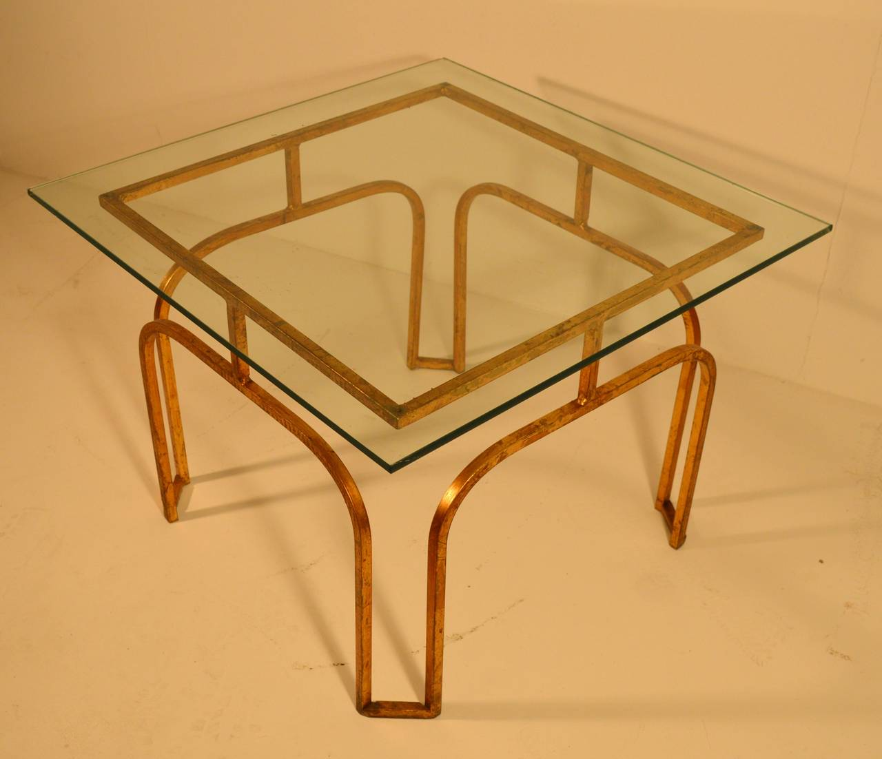 Gilded Cast Iron Coffee Table Of The 1950s At 1stdibs