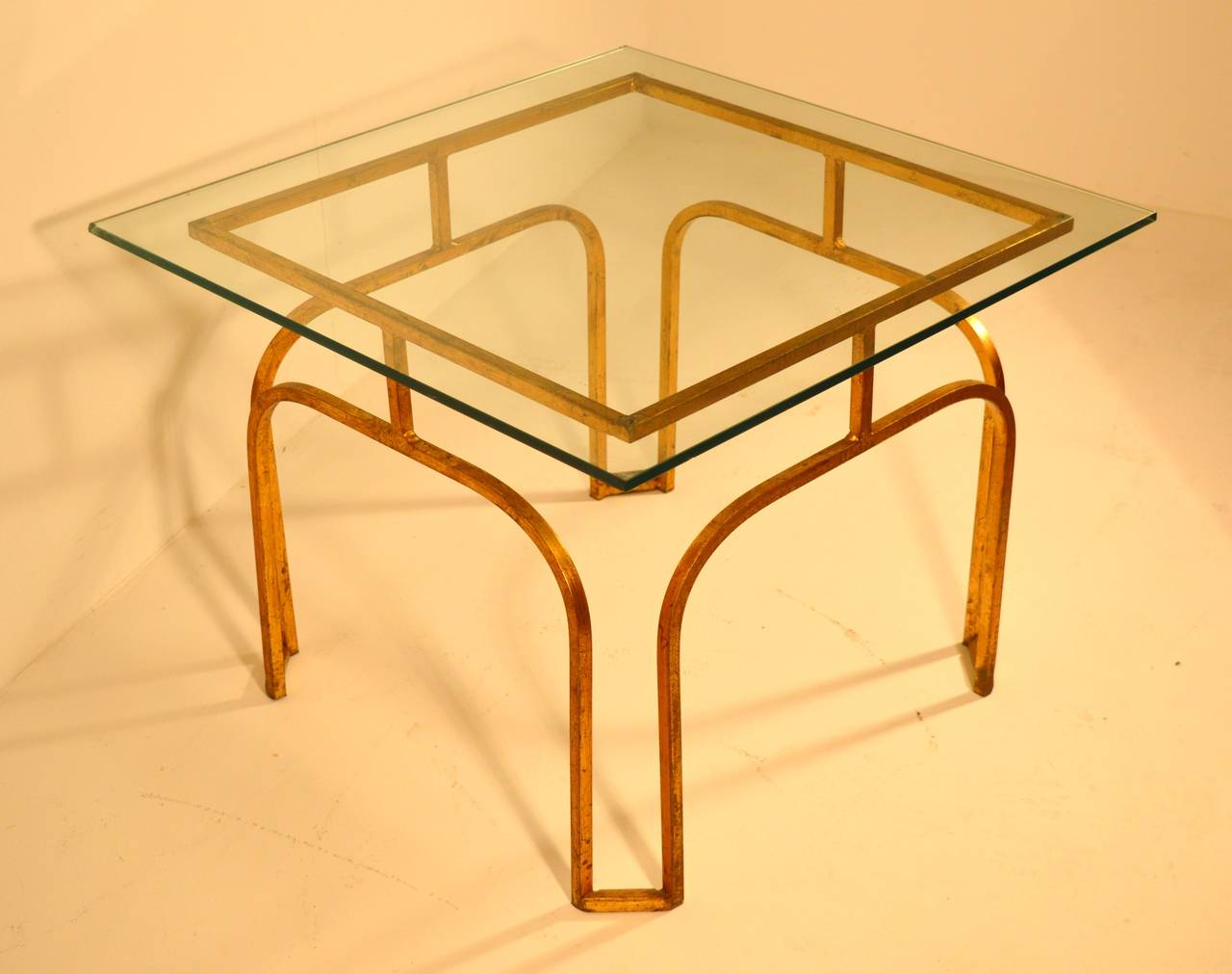 Gilded cast iron coffee table of the 1950s at 1stdibs for Cast iron outdoor coffee table