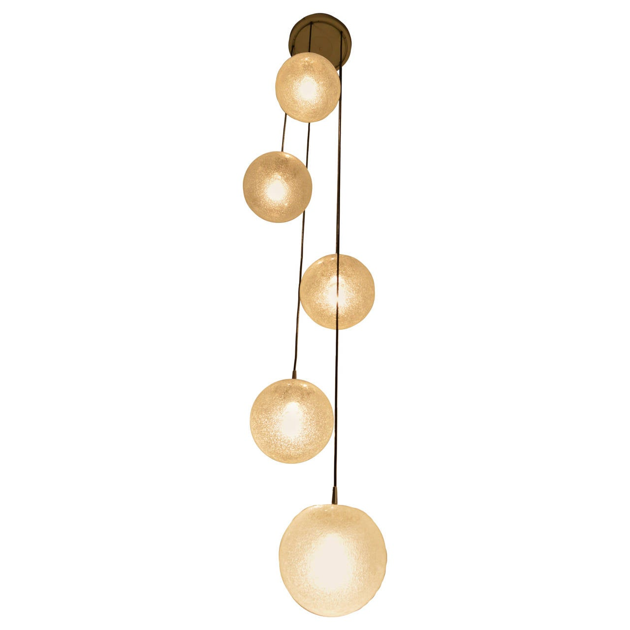 Very Large Glass Ball Chandelier 1960s by Putzler at 1stdibs