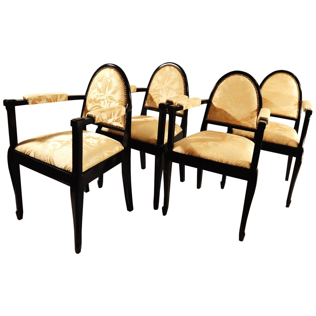 Set of Four Artdeco Armchairs Attributed to Maurice Dufrène