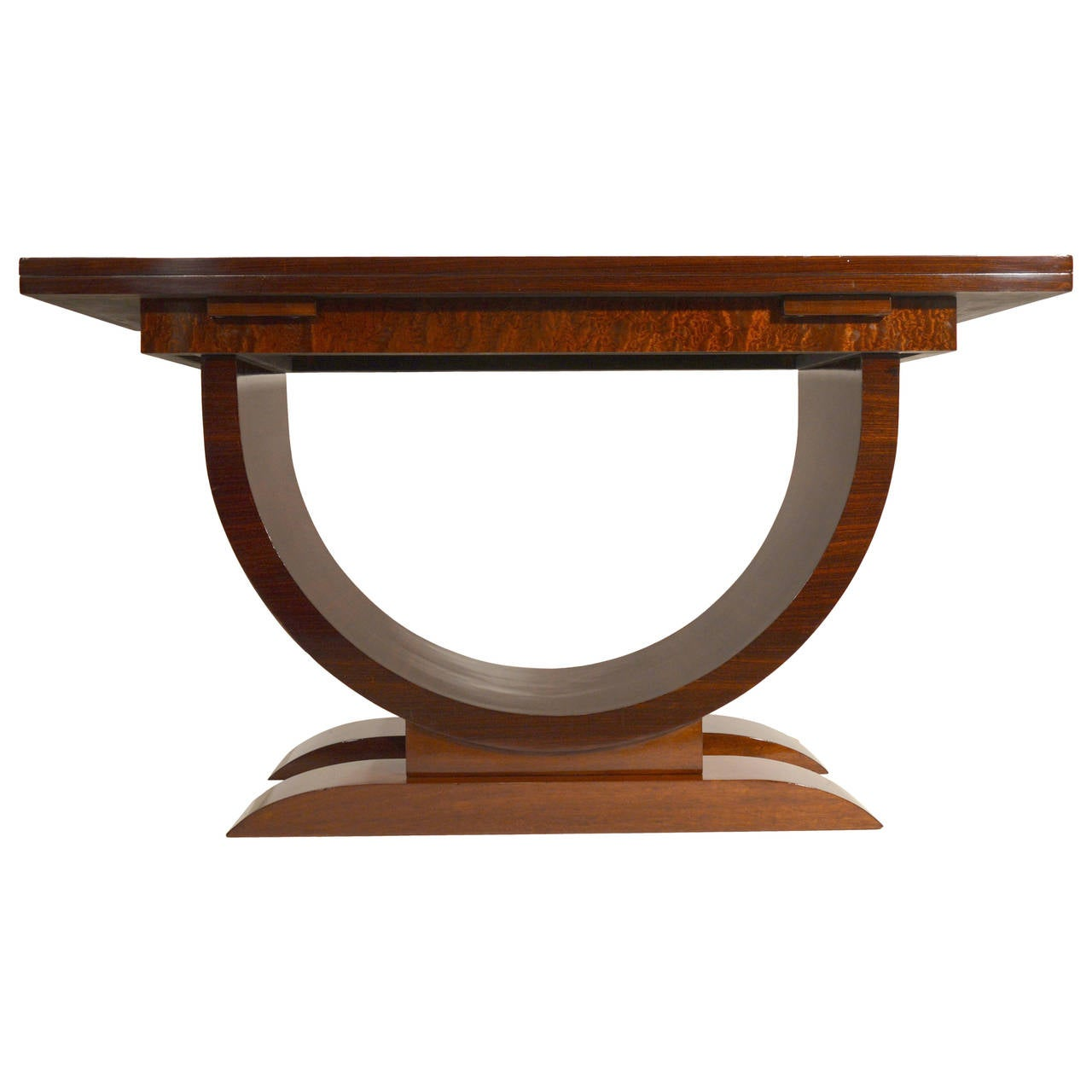 Art deco folding side table in rosewood and mahogany at for Table console retractable