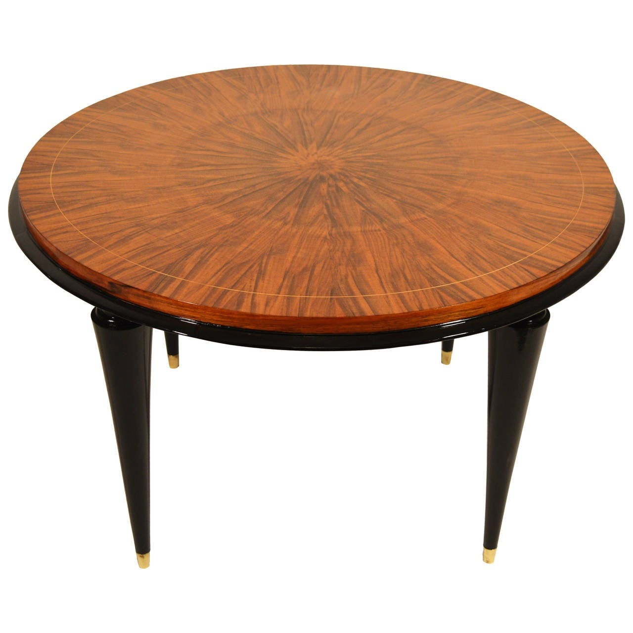 Art Deco Coffee Table In Walnut Attributed To Maurice Jallot At 1stdibs