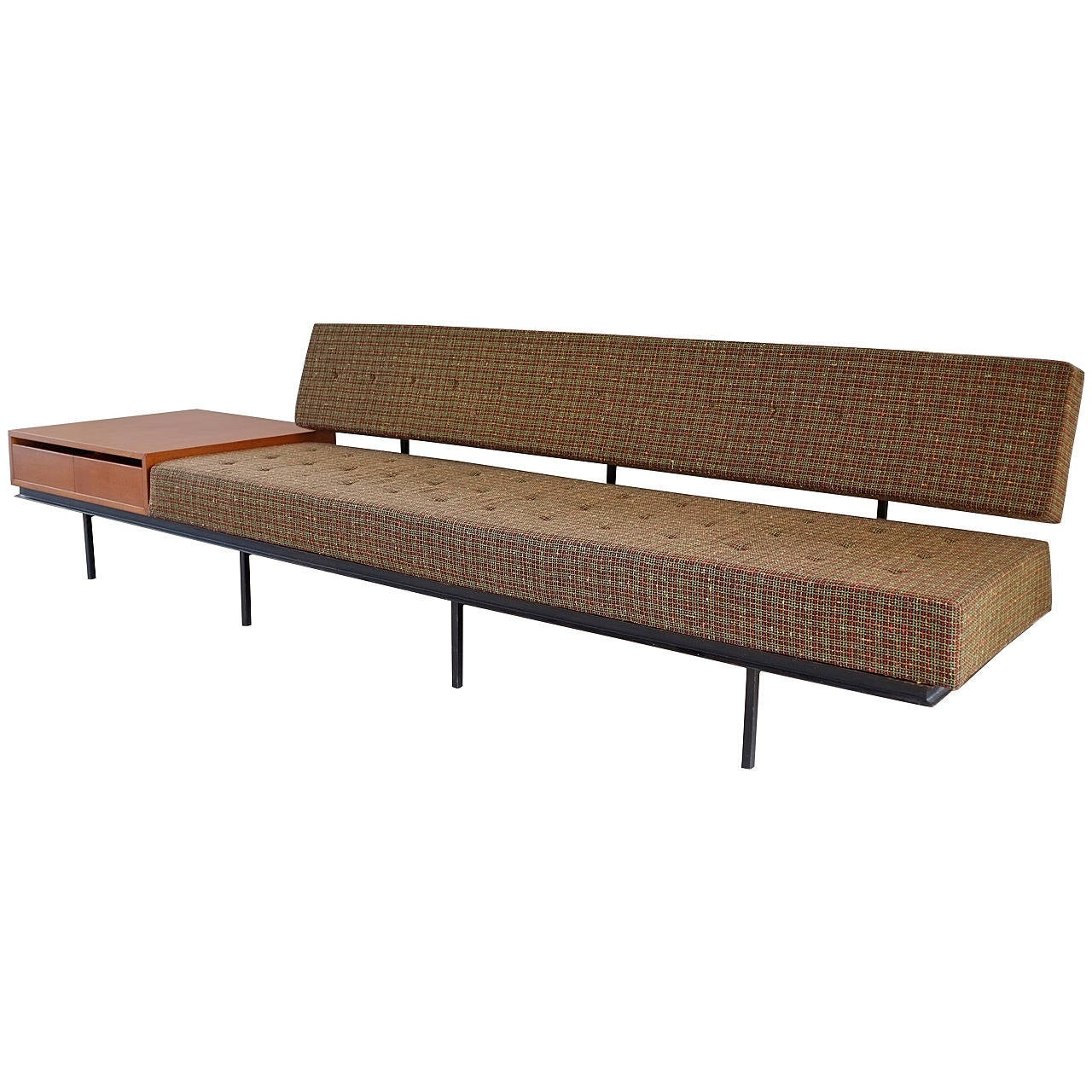 Sofa with side table by florence knoll for knoll for Knoll and associates