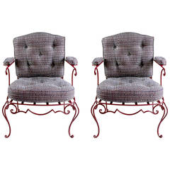 Jean-Charles Moreux Pair of Armchairs, 1940s