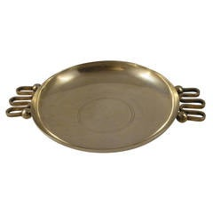 Silvered Metal Bowl by Fjerdingstad for Christofle, circa 1936