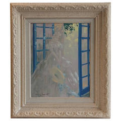 Oil on Isorel Panel Painting by Louis Icart, circa 1920
