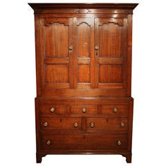 Handsome Early 19th Century Oak Livery or Linen Cupboard, circa 1820