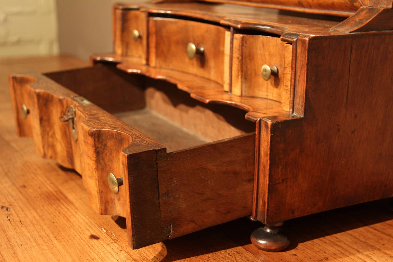 Small Queen Anne Period Walnut Vanity With Dressing Mirror Circa 1710 At 1st