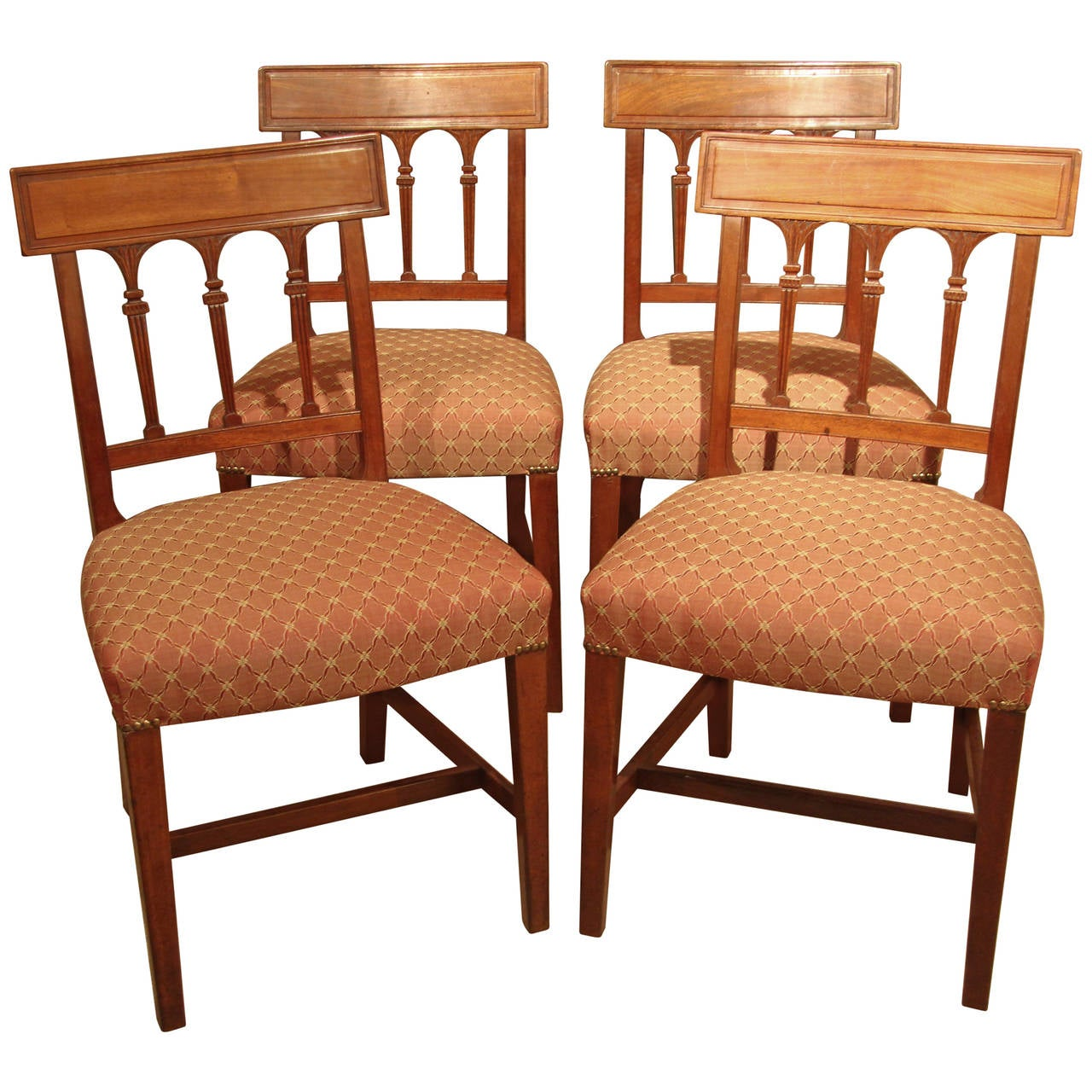 Set Of Four Regency Dining Chairs At 1stdibs