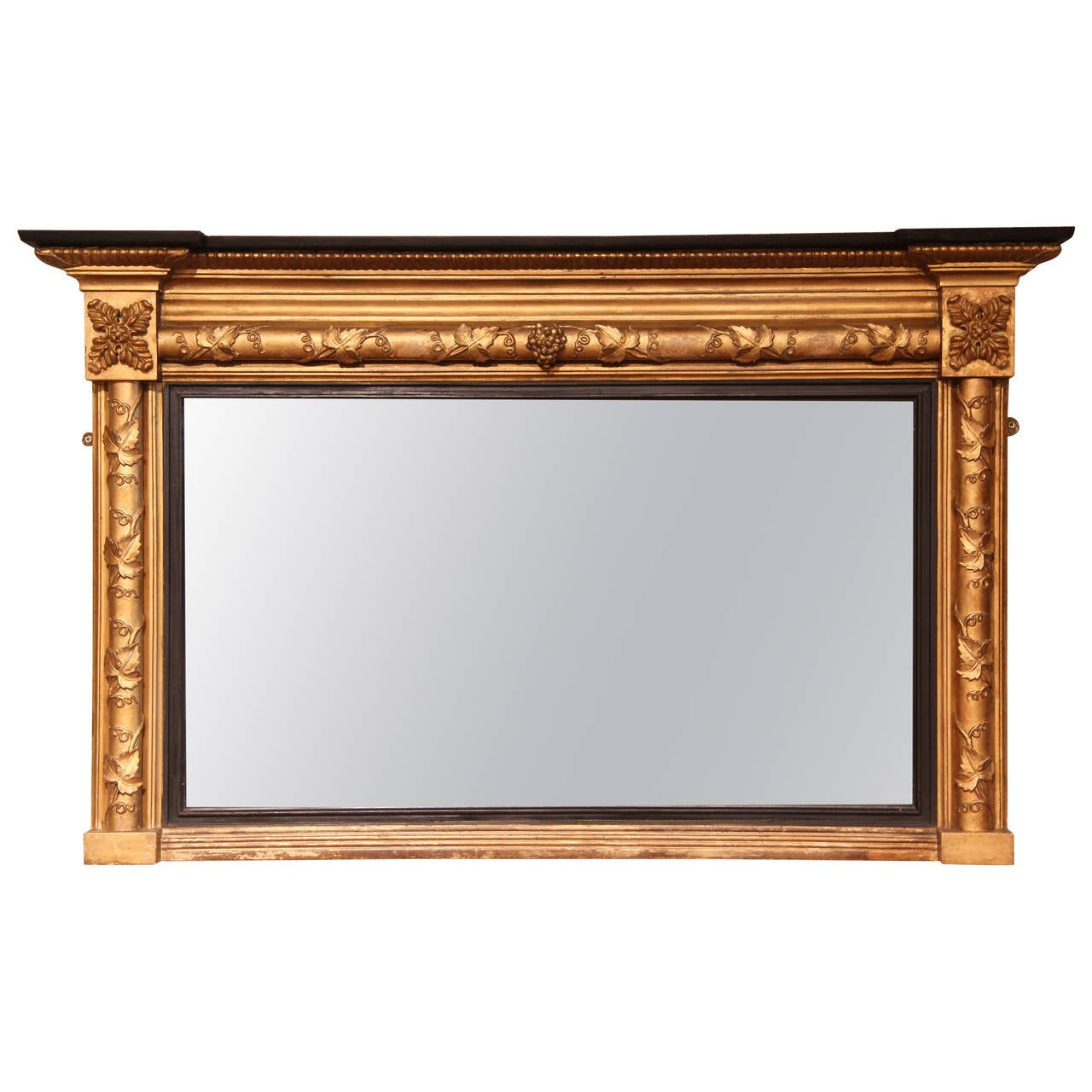 Early 19th century regency period overmantle mirror circa for Overmantle mirror