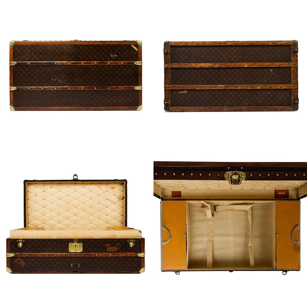 Very Impressive portraiture of  20th Century Louis Vuitton Monogram Canvas Cabin Trunk circa 1930 with #AF500C color and 1024x1024 pixels