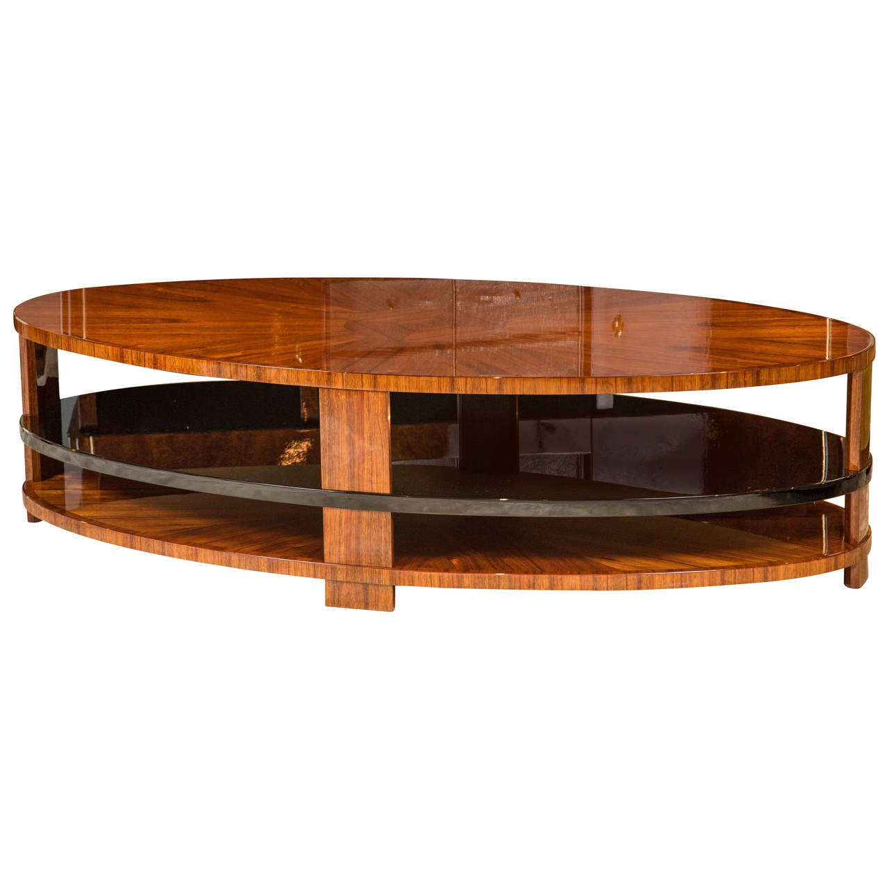Art Deco Style Coffee Table In Laurel At 1stdibs