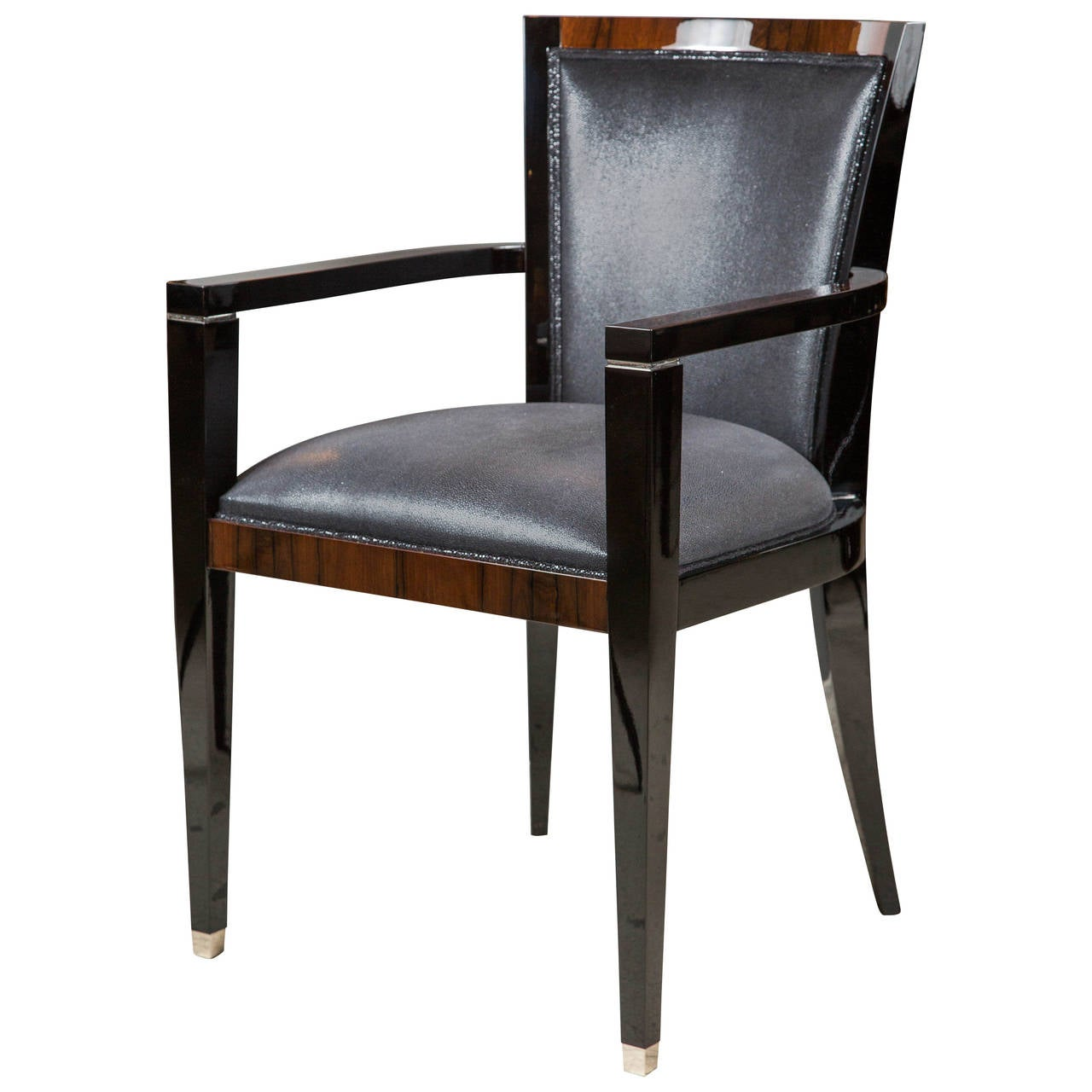 art deco style dining or occasional chair with arms at 1stdibs. Black Bedroom Furniture Sets. Home Design Ideas