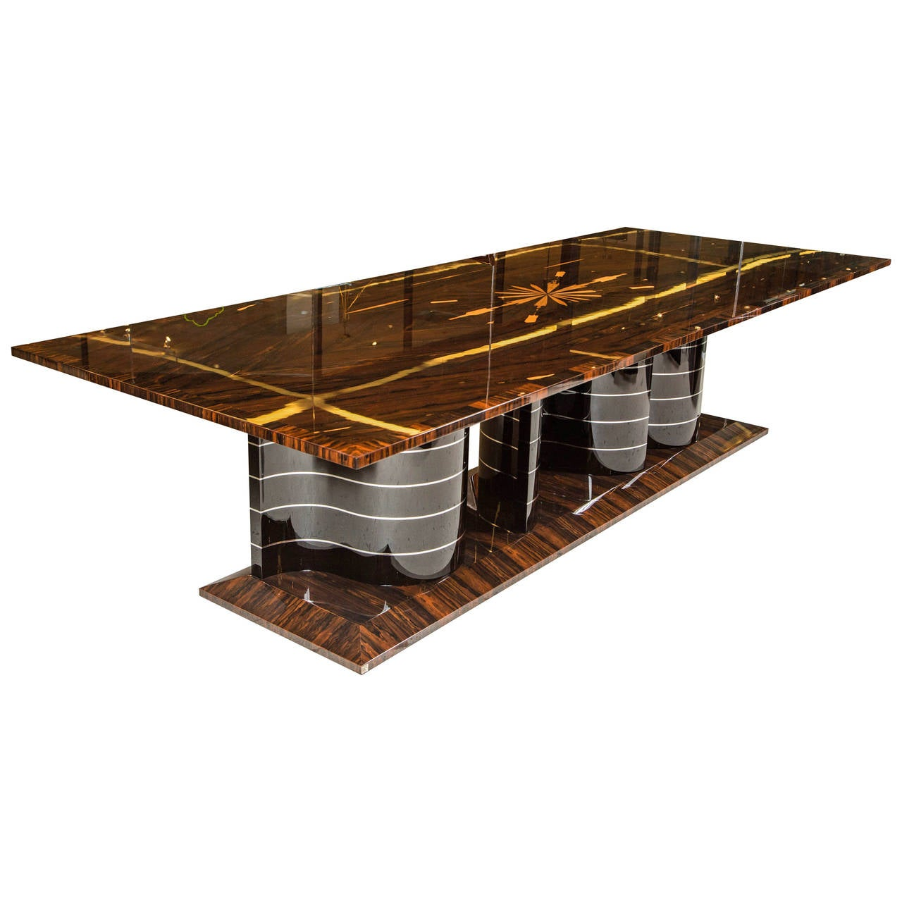 Contemporary art deco style dining table at 1stdibs - Art deco dining room table ...