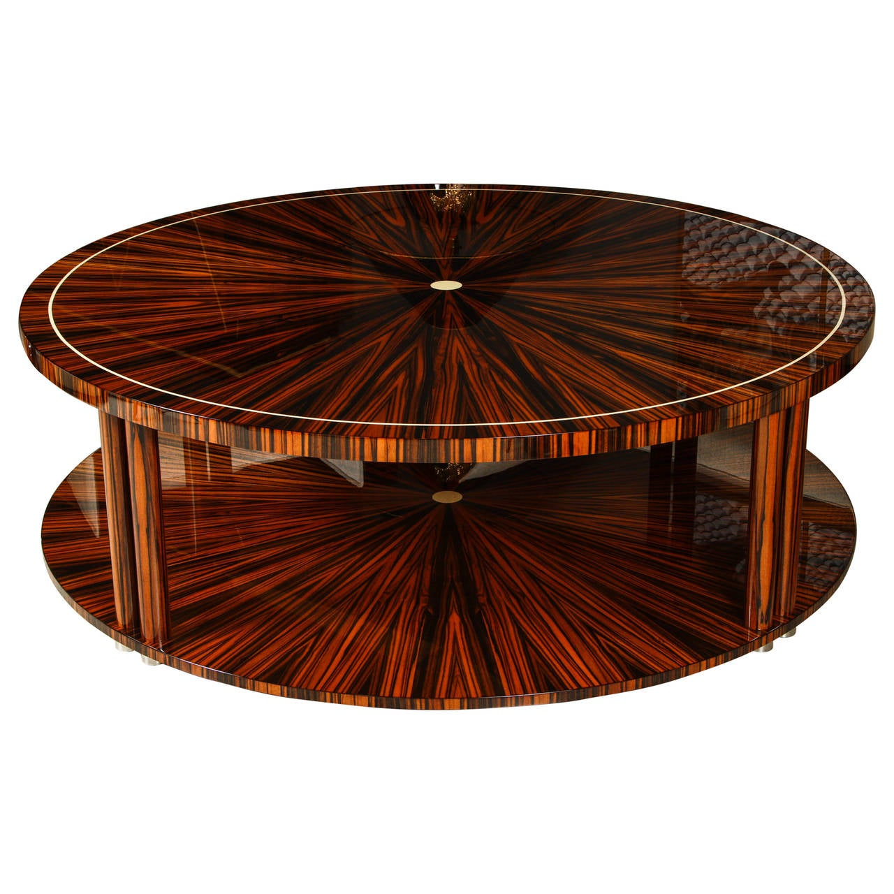 Art Deco Style Coffee Table In Macassar At 1stdibs