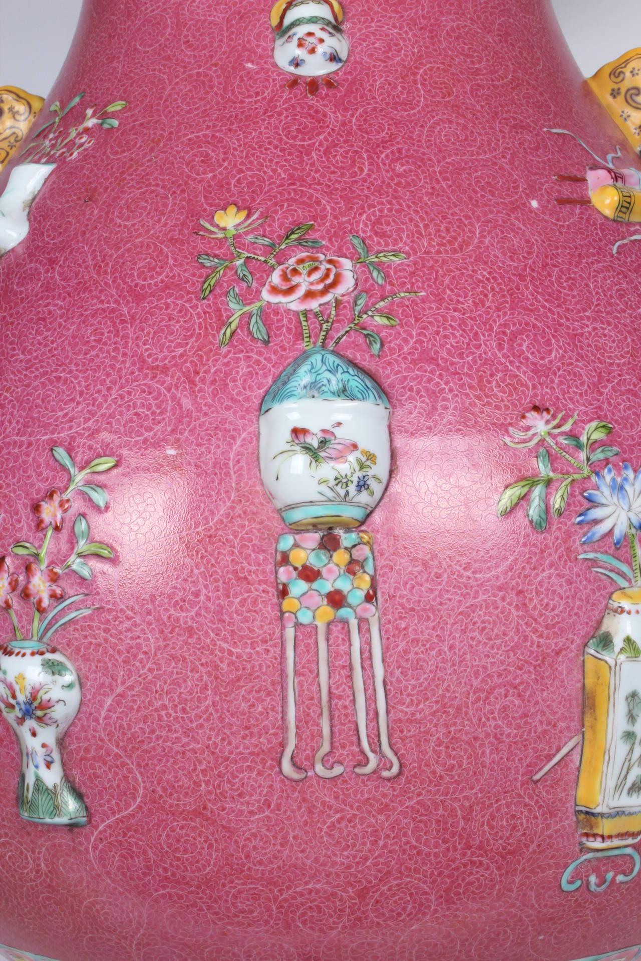 Pink Qing Dynasty Lamp At 1stdibs