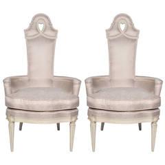 Pair of Vintage Regency Armchairs