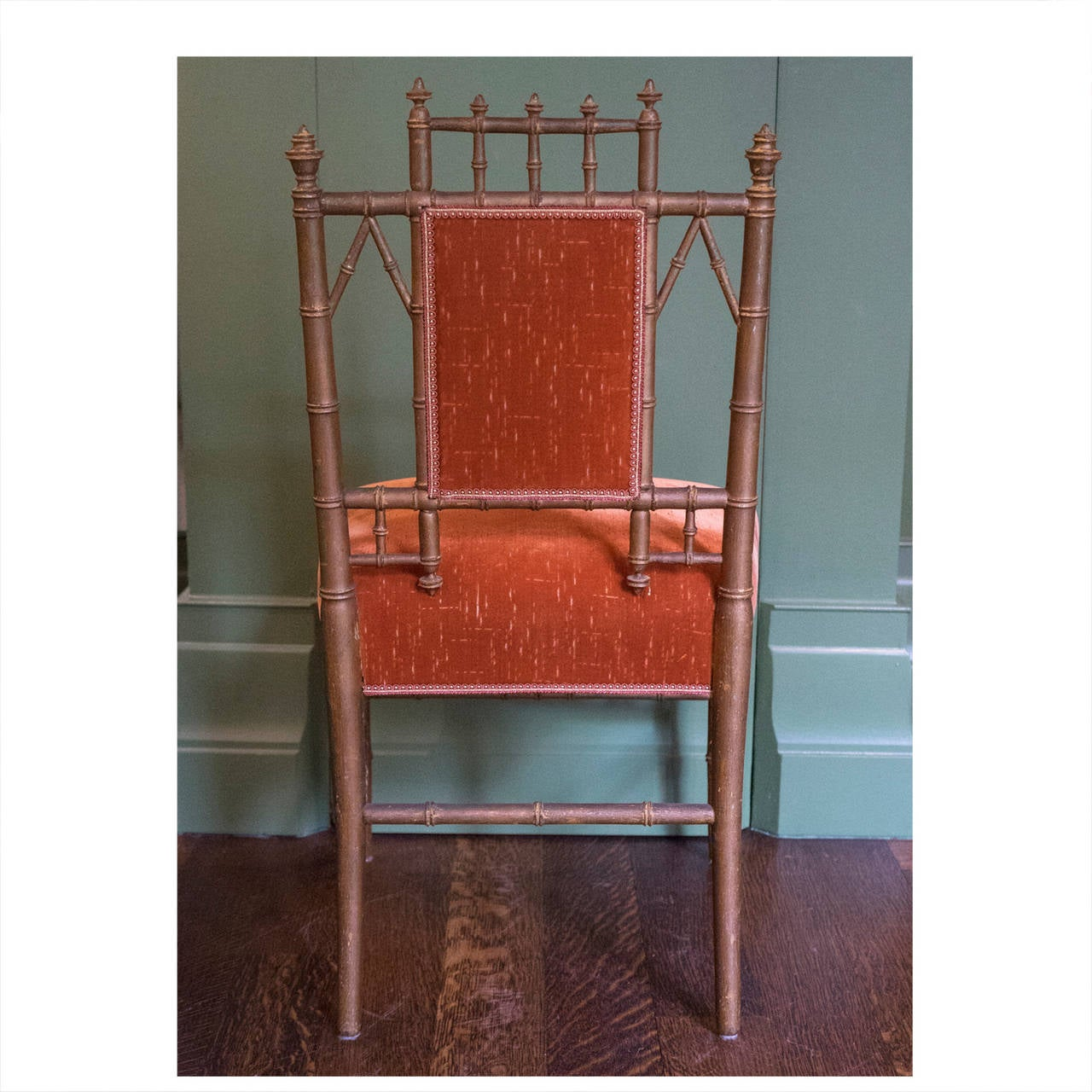 "Bamboo Turned Chair: Late 19th Century Aesthetic ""Bamboo"" Turned Side Chair"