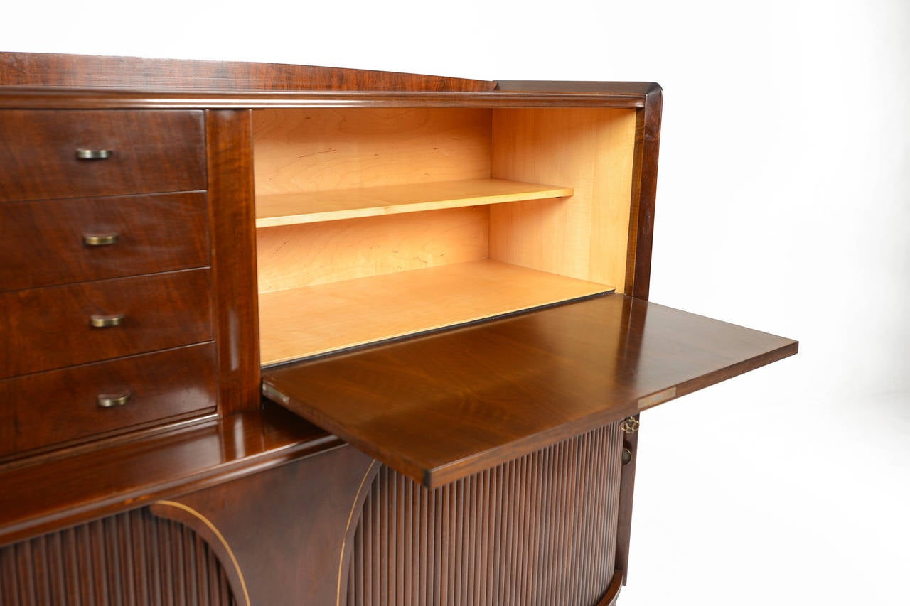 1940s danish modern bow front sideboard in mahogany at 1stdibs