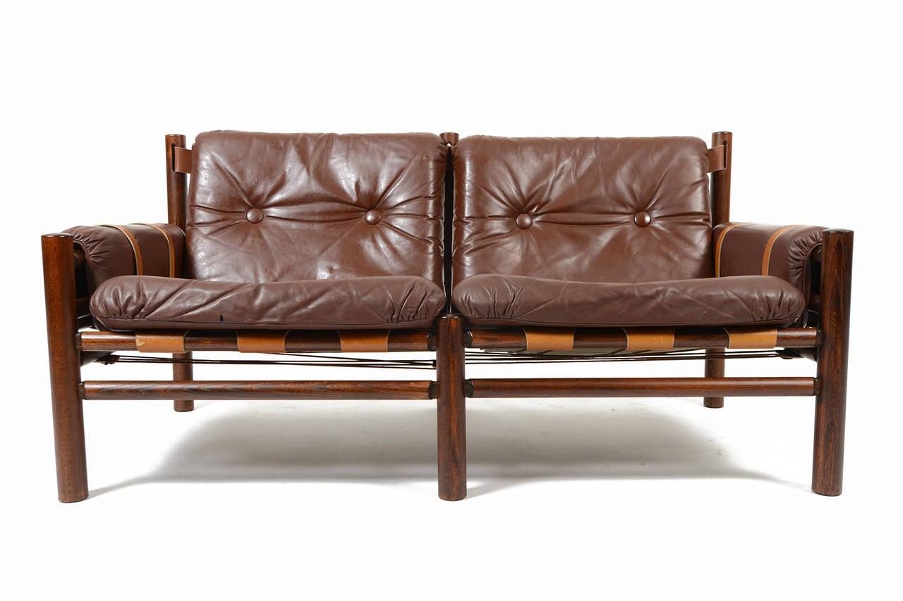 bruksbo of norway brown leather midcentury loveseat . bruksbo of norway brown leather midcentury loveseat at stdibs