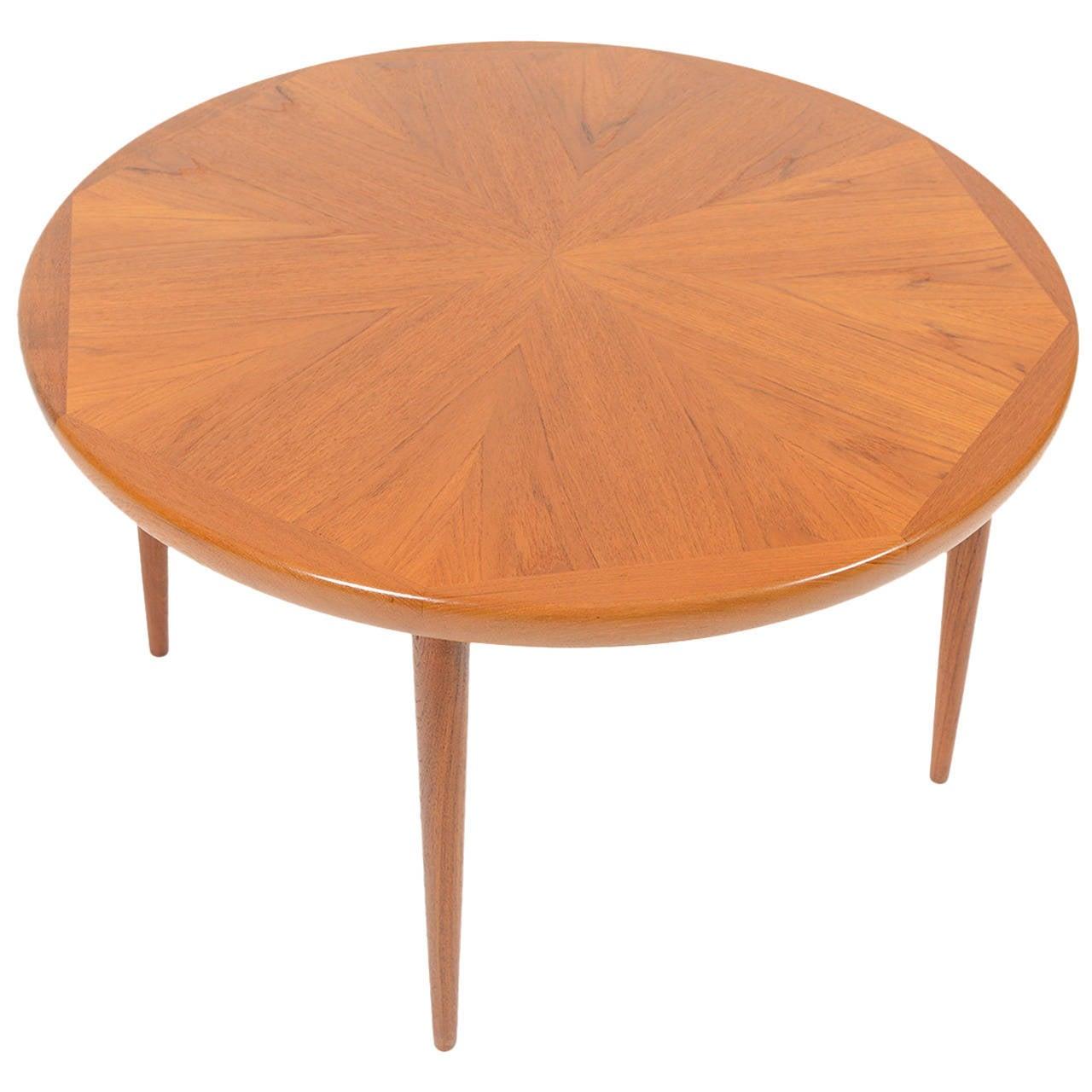 Starburst Round Coffee Table in Teak by Spottrup Mbelfabrik For