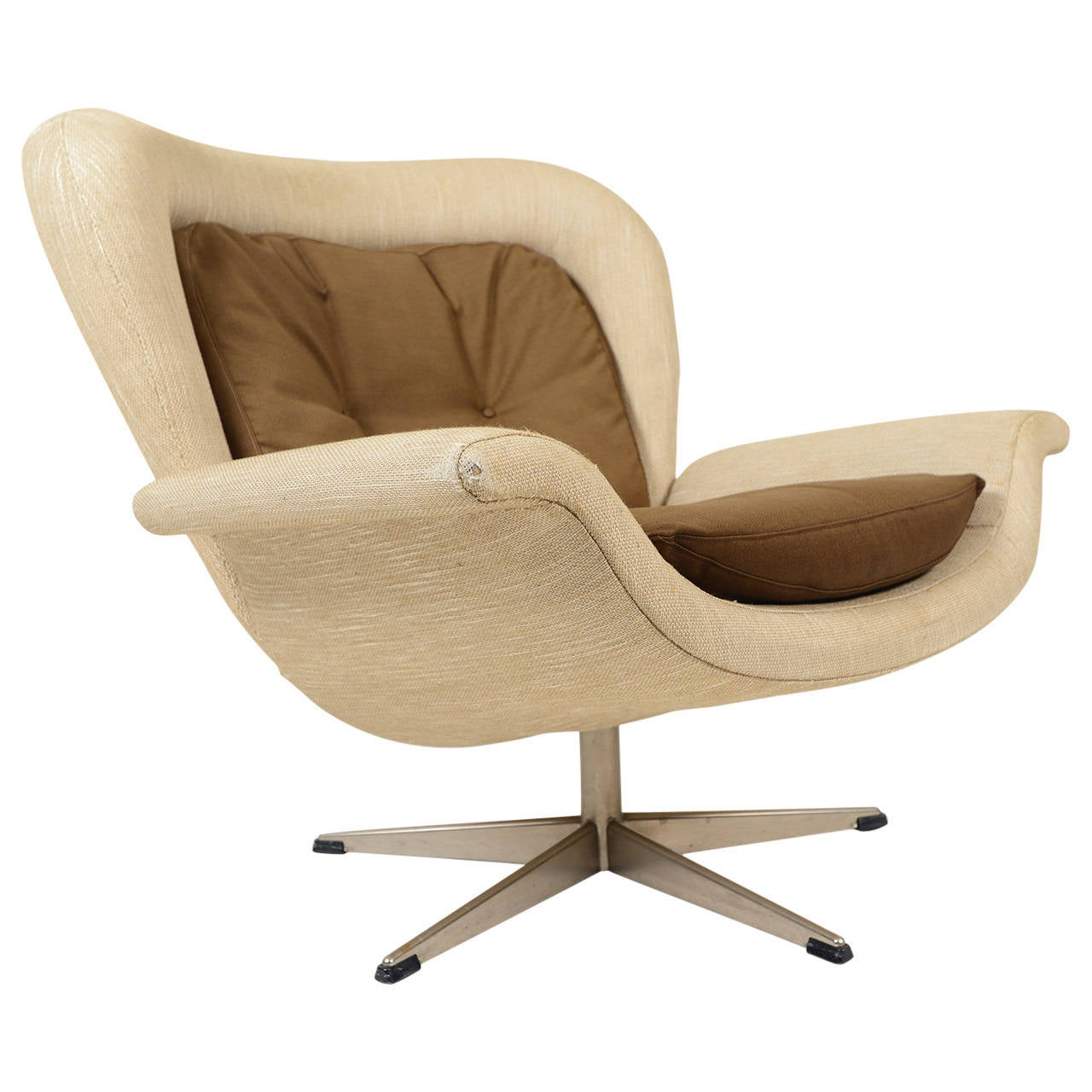 John Mortensen Prototype Swivel Lounge Chair At 1stdibs