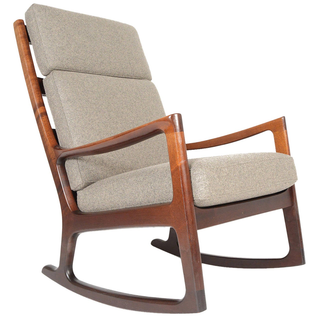 ... Ole Wanscher Mahogany Highback Rocking Chair is no longer available
