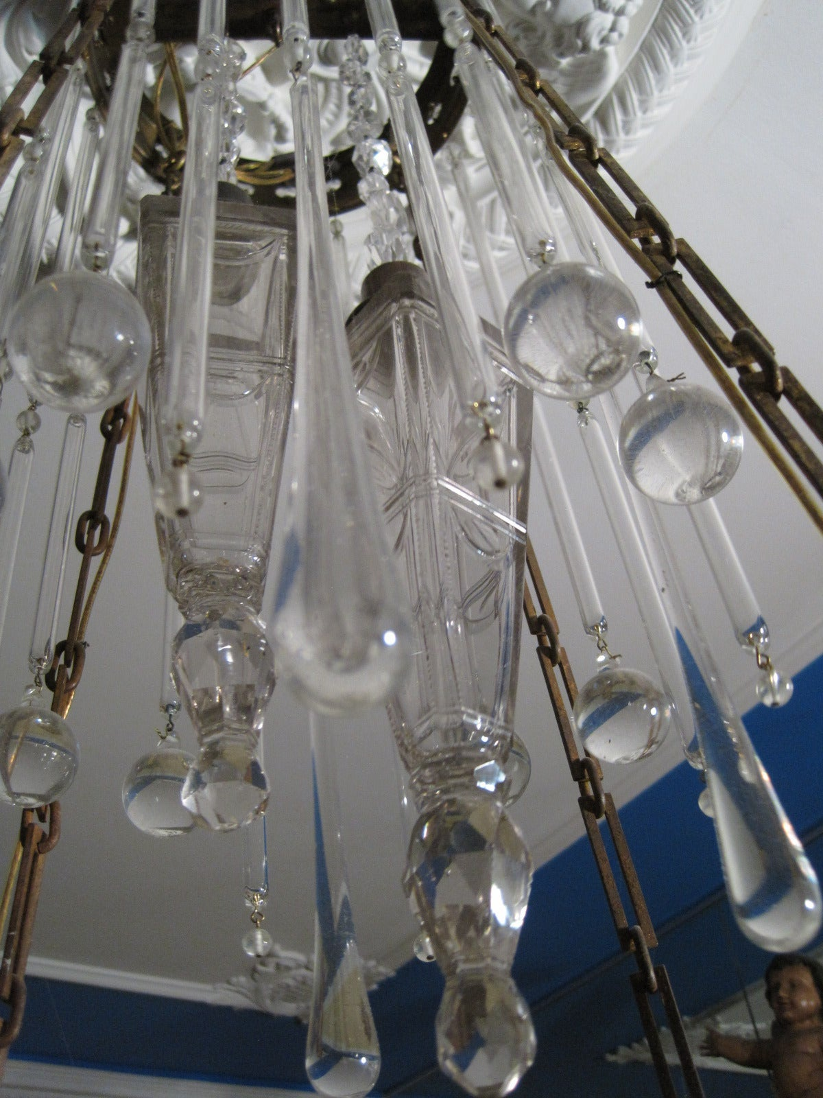 Art Deco Crystal Chandelier At 1stdibs