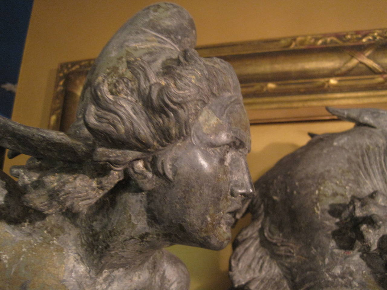 Zinc  August Karl Eduard Kiss Sculpture, 19th Century For Sale
