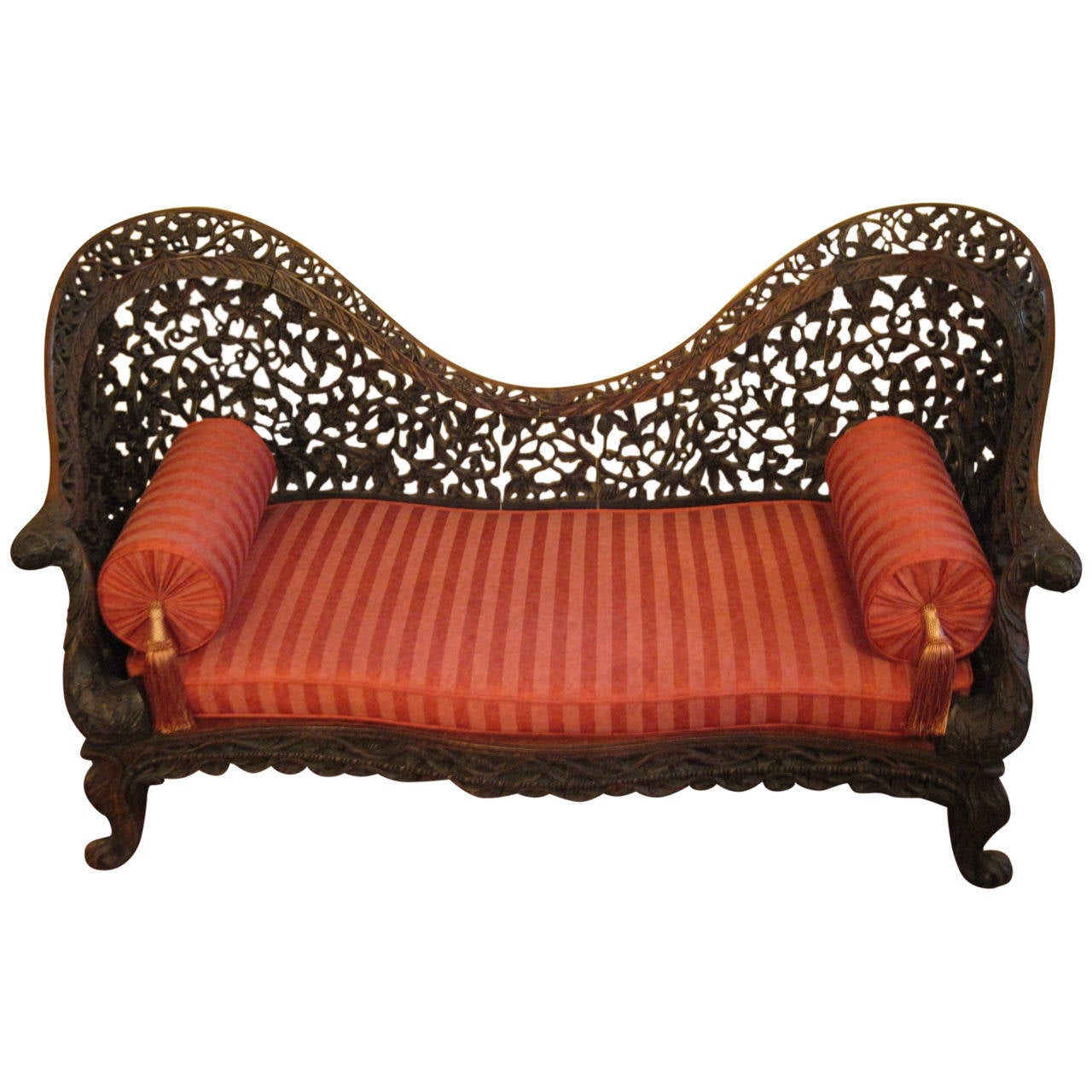 Anglo Indian Settee Late 18th Or Early 19th Century Carved Rosewood For Sale At 1stdibs