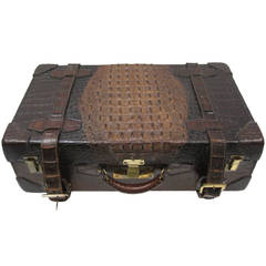 19th Century Alligator Suitcase