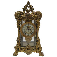 American Ansonia Shelf Clock in Ornate French Style Case