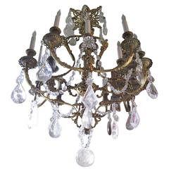 Quartz Rock Crystal Chandelier, French