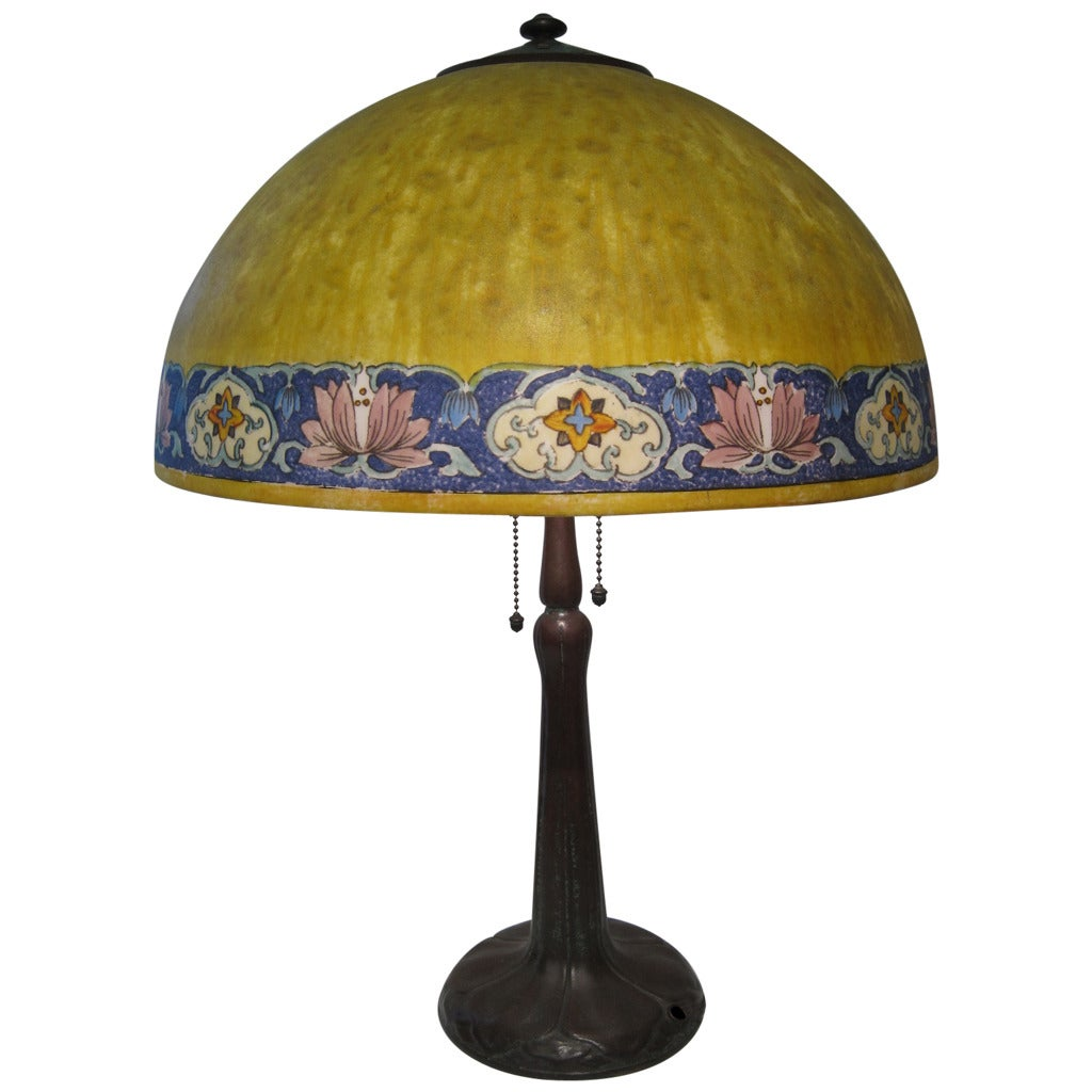 Handel Lamp, Signed American Table Lamp For Sale