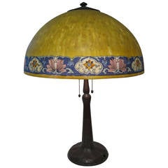 Handel Lamp, Signed American Table Lamp