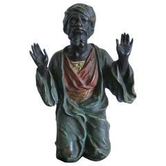 Franz Xaver Bergman Bronze Sculpture, Cold Painted Arab