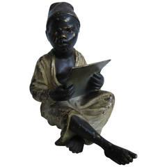 Franz Xaver Bergman Bronze Sculpture of Arab Boy