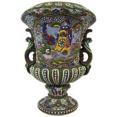 Moriage Nippon Vase, Japanese Porcelain