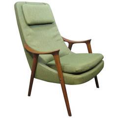 Ingmar Relling Teak Lounge Chair for Westnofa, Scandinavian Modern