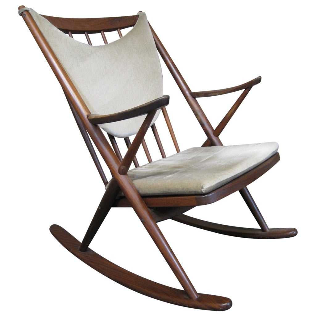 Frank reenskaug danish teak rocking chair for bramin scandinavian modern at 1stdibs - Scandinavian chair ...